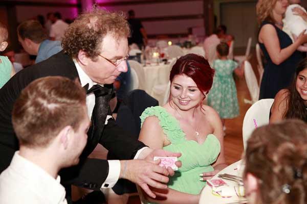 Zauberer bei Hochzeit